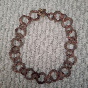 Rust Colored Loose Choke Necklace